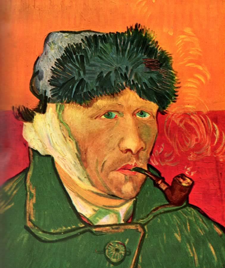Van gogh 1853 1890 cieljyoti 39 s blog - Vincent van gogh autoportrait a l oreille coupee ...