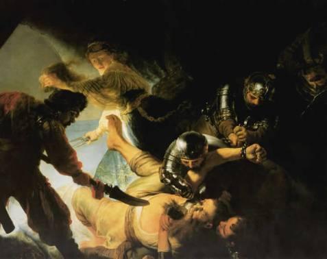 Aveuglement de Samson, Rembrandt, 1636, huile sur toile, 236x306 cm.