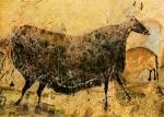 Lascaux, auroch avec blasons