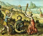 Atalante, 1618, Le dragon tué par le Soleil et la Lune
