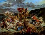 Delacroix, Chasse au lion, 1861