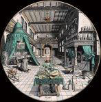 Heinrich Khunrath, Laboratoire alchimiste, 1595