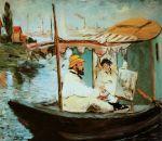 Manet, Monet et sa femme dans son studio flottant, 1874