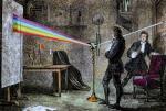 Newton décomposant la lumière