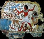 Papyrus Nebamun, Scène de chasse, 1350 avant notre ère