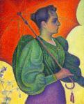 Paul Signac, Femme à l'ombrelle, 1893