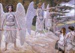 James Tissot, Adam et Eve chassés du paradis, 1902