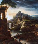Paysage avec aqueduc le soir, 1818