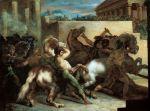 Course de chevaux libres, 1816